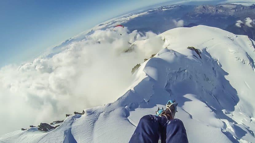 Vol depuis le sommet