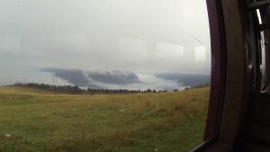 La météo à notre départ