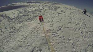 Le sommet avec la voile
